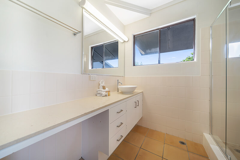 Renovated main bathroom